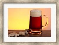 Beer Sitting And Peanuts Fine Art Print