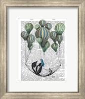 Penguin in Hammock Balloon Fine Art Print
