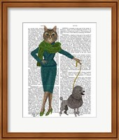 Cat and Poodle Fine Art Print