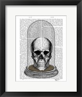 Skull In Bell Jar Fine Art Print