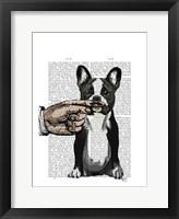 French Bulldog and Finger Moustache Fine Art Print