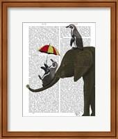Elephant and Penguin Fine Art Print