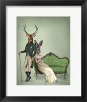 Mr Deer and Mrs Rabbit Fine Art Print