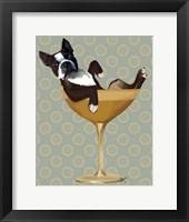 Boston Terrier in Cocktail Glass Fine Art Print