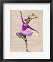 Ballet Deer in Pink II Fine Art Print