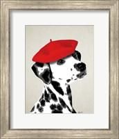 Dalmatian With Red Beret Fine Art Print