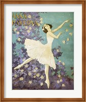 Design for a Poster of Anna Pavlova Gouache Fine Art Print