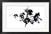 Black Horses Fine Art Print