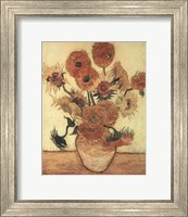 Vase With Sunflowers Fine Art Print