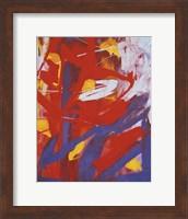 Abstract Painting, c. 1982 (indigo, red, white) Fine Art Print