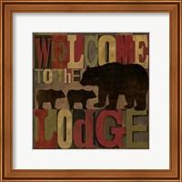At the Lodge Printer Blocks IV Fine Art Print