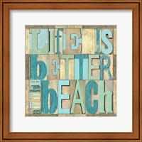 Beach Printer Blocks I Fine Art Print