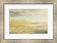 Siena Abstract Yellow Gray Landscape Fine Art Print