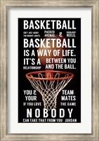 Basketball is a Way of Life Fine Art Print