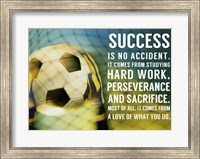 Success Soccer Quote Fine Art Print