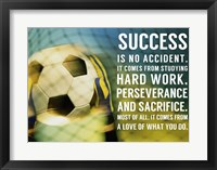 Success Soccer Quote Fine Art Print