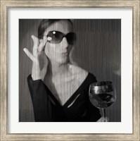 Loren With Wine Fine Art Print