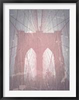 Brooklyn Bridge Red Fine Art Print