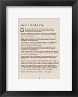 Desiderata Fine Art Print