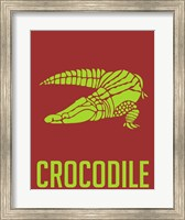 Crocodile Yellow Fine Art Print