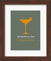 Martini Yellow Fine Art Print