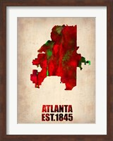 Atlanta Watercolor Map Fine Art Print