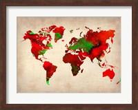 World Watercolor Map 4 Fine Art Print