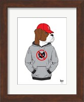 Boxer Dog In City Style Fine Art Print