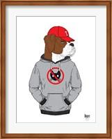 Boxer Dog In City Style Fine Art Print