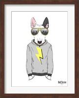 Bull Terrier in City Style Fine Art Print