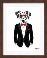 Dalmatian Dog in Tuxedo Fine Art Print