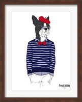 French Bulldog In French Style Fine Art Print