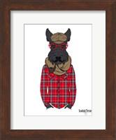 Scottish Terrier In Pin Plaid Shirt Fine Art Print