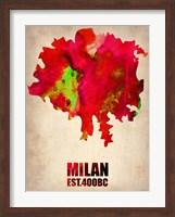 Milan Watercolor Map Fine Art Print