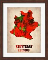 Stuttgart Watercolor Fine Art Print