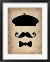 Hat Glasses and Mustache 3 Fine Art Print