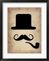 Hat Glasses and Mustache 4 Fine Art Print