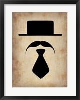 Hat Glasses and Mustache 5 Fine Art Print