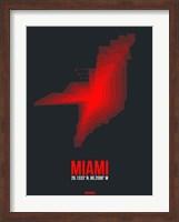 Miami Radiant Map 3 Fine Art Print
