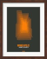 Minneapolis Radiant Map 3 Fine Art Print