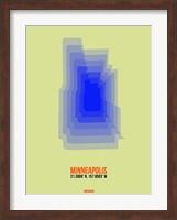 Minneapolis Radiant Map 4 Fine Art Print