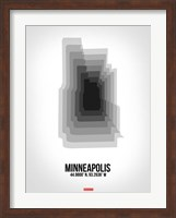 Minneapolis Radiant Map 6 Fine Art Print