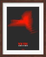 New York Radiant Map 4 Fine Art Print