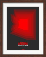 Arizona Radiant Map 4B Fine Art Print