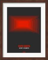 South Dakota Radiant Map 4 Fine Art Print