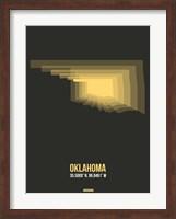 Oklahoma Radiant Map 4 Fine Art Print