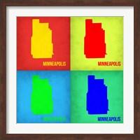 Minneapolis Pop Art Map 1 Fine Art Print