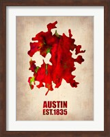 Austin Watercolor Map Fine Art Print