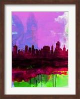 Tulsa Watercolor Skyline 2 Fine Art Print