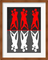 Red and White Dance Fine Art Print